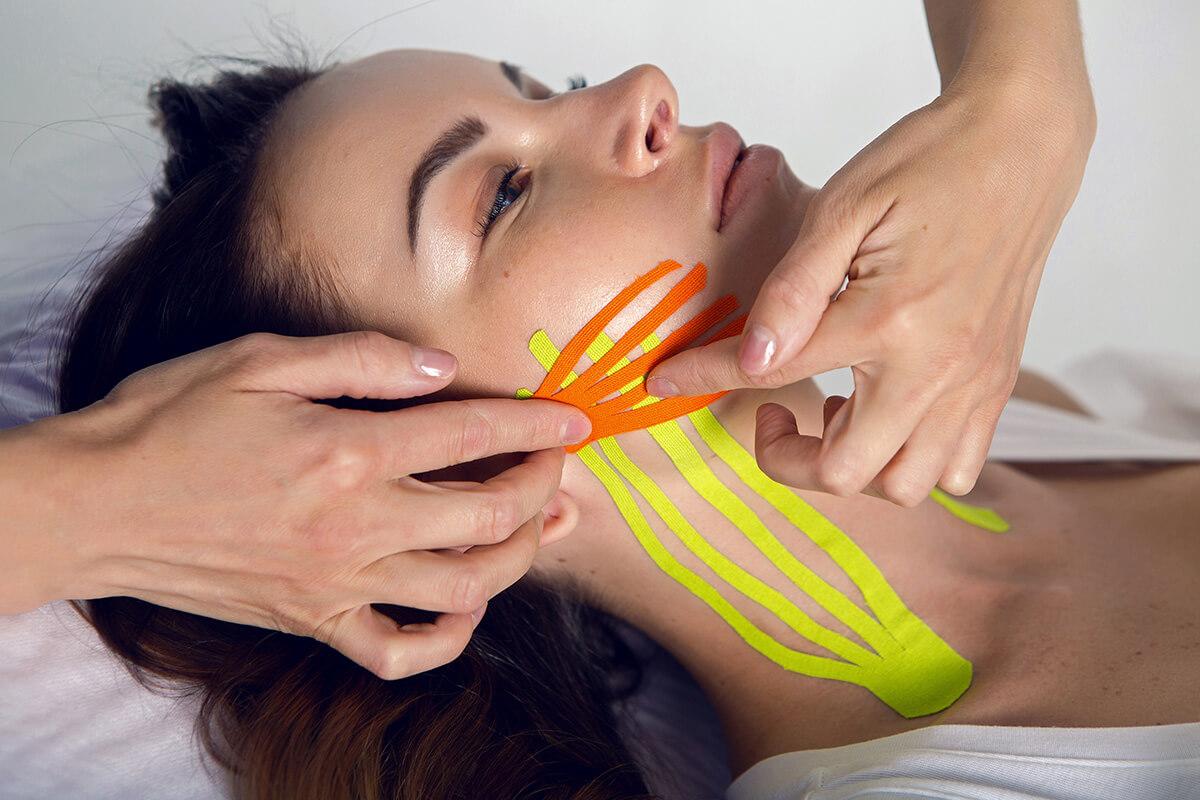 Facemodeling z kompleksem + tejpowanie + masaż wewnątrzustny - 120 min